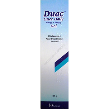 Duac Once Daily Gel żel (0,01g+0,05g)/g 30g .LEK WYDAWANY NA RECEPTĘ LEKARSKĄ-TYLKO ODBIÓR OSOBISTY