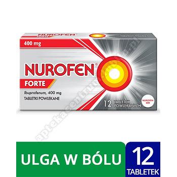 Nurofen Forte ibuprofen 400 mg leki przeciwbólowe 12 tabletek powlekanych