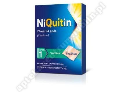 Niquitin plastry 21 mg 7szt. PRZEZROCZYSTY STOPIEŃ 1