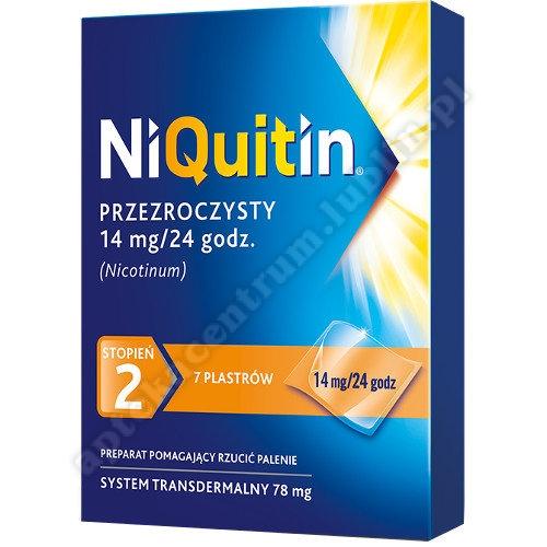 Niquitin plastry 14 mg 7 szt. PRZEZROCZYSTY STOPIEŃ 2