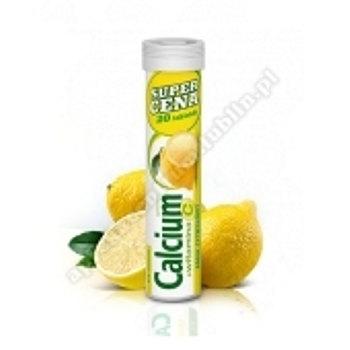 Calcium 300 +Vit.C  sm/cytrynowy tuba x 20 tabl.mus.