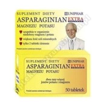 Asparaginian Magnezu Potasu Uniphar Extra 50tabl.