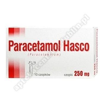 Paracetamol Hasco czop.doodbyt. 0,25g 10cz