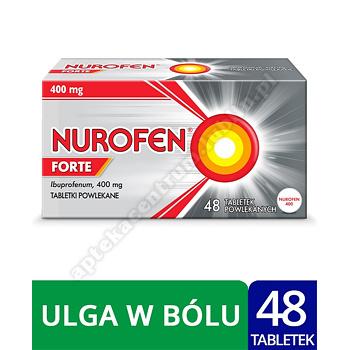 Nurofen Forte ibuprofen 400 mg leki przeciwbólowe 48 tabletek powlekanych