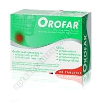 Orofar Junior tabl.dossania 1mg+1mg 24tabl