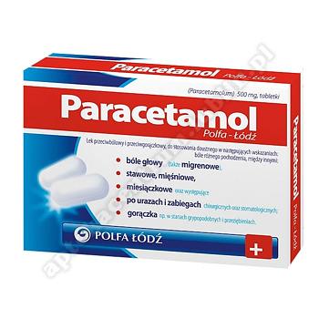 Paracetamol Polfa-Łodź tabl. 0,5g 20tabl.