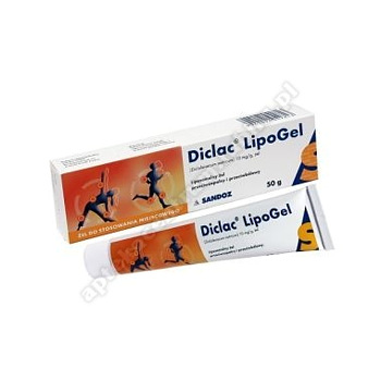 Diclac Lipogel zel 0,01g/1g 50g(tuba)