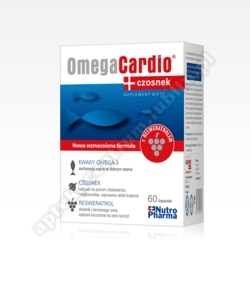 Omega cardio+ czosnek x 60 kaps.