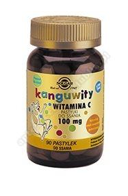 SOLGAR Kanguwity Witamina C smaku pomarańczy 90 pastylek do ssania