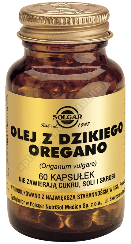 SOLGAR Olej z dzikiego oregano kaps. 60 kaps.