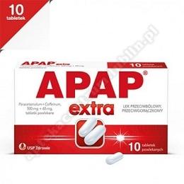 Apap Extra tabletki powlekane (0,5g+0,065g) 10tabl
