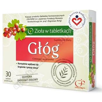 Głóg tabletki powlekane 30 tabletek (blist.)