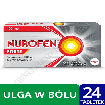 Nurofen Forte ibuprofen 400 mg leki przeciwbólowe 24 tabletki powlekane