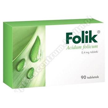 Folik 0,4 mg 90 tabl.