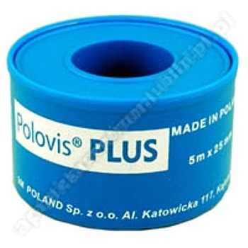 Plaster POLOVIS Plus 5m x 25mm na kółku 1 sztuka