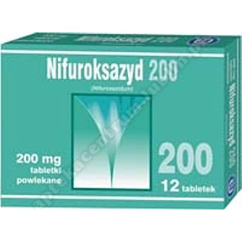 Nifuroksazyd  200 mg  tabl.powl x 12 szt.