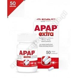 Apap Extra tabletki powlekane (0,5g+0,065g) 50tabl