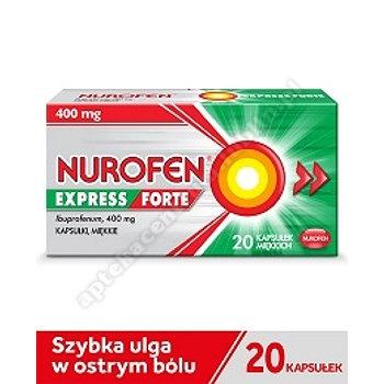 Nurofen Express Forte ibuprofen 400 mg 20 kapsułek miękkich leki przeciwbólowe