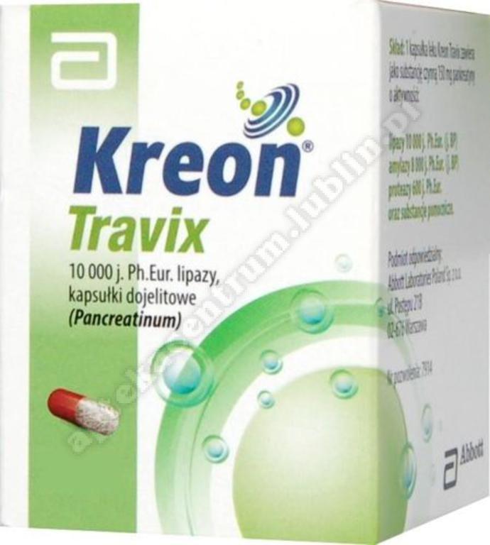 Kreon Travix (Kreon 10 000) kapsułki dojelitowe x 50kaps.