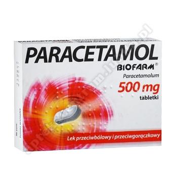 Paracetamol BIOFARM tabl. 0,5 g 10 tabl.