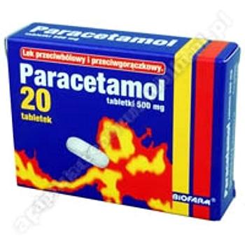 Paracetamol Biofarm  tabl. 0,5 g 20 tabl.