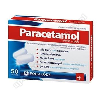 Paracetamol Polfa-Łodź tabl. 0,5g 50tabl.