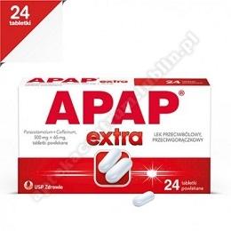 Apap Extra tabletki powlekane (0,5g+0,065g) 24tabl