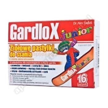 Gardlox Junior ziołowe smak pomarańczowy 16 pastylek do ssania