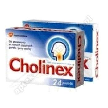 Cholinex pastyl.twarda 0,15g 24pastyl.