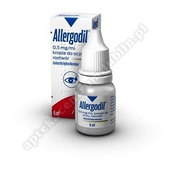 Allergodil krop.dooczu,roztwór 0,5mg/ml 6m