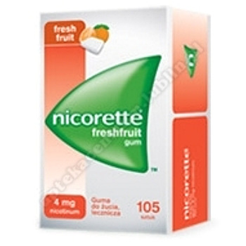 Nicorette FreshFruit Gum 4mg gumadożucialecz.15/105-1 listek