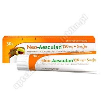 Neo-Aesculan żel doodbyt. (0,05g+5mg)/g 30g