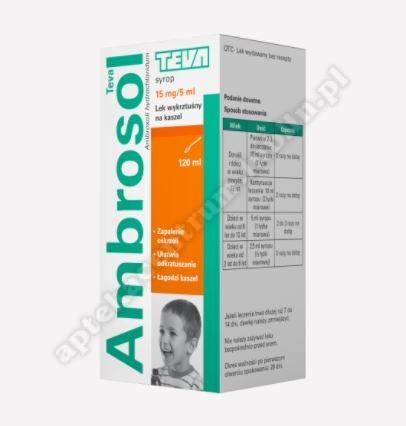 Ambrosol syrop 15mg/5ml 120 ml