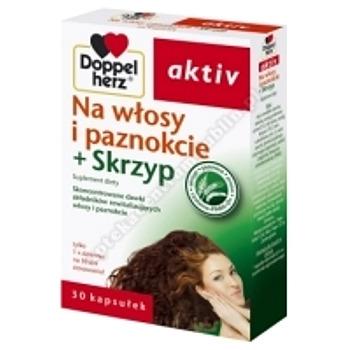 Doppelherz aktiv Na włosy i paznokci+skrzyp 30 kaps.