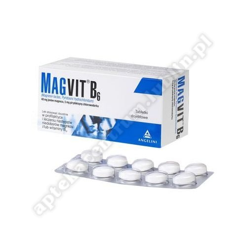 Magvit B6 tabl.powl.dojel. 0,048gMg+5mg 50tabl.