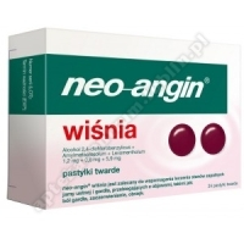 Neo-Angin wiśnia pastyl.twarde 1,2mg+0,6mg 24 pastylek