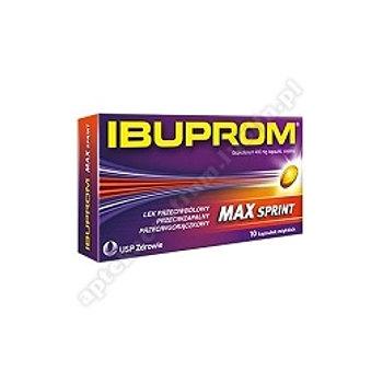 Ibuprom MAX Sprint kaps.miękkie 0,4g 10 kapsułek