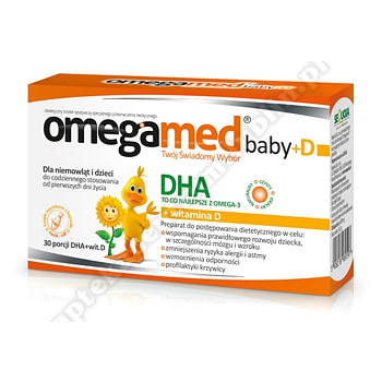 Omegamed Baby+D - DHA 150 mg + Wit.D 400 j.m. 30 kapsułek twist-off