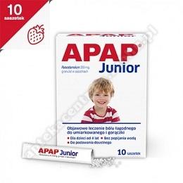 Apap Junior granulat 0,25 g 10 sasz.