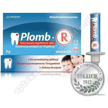 Plomb-R 3 g tymczasowe wypełnienie zęba plomba (tubostrz.)