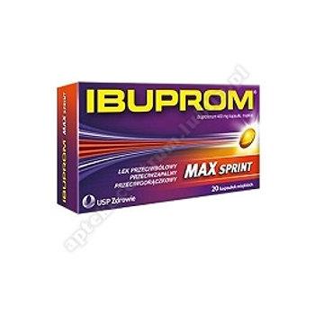 Ibuprom MAX Sprint kaps.miękkie 0,4g 20kapsułek