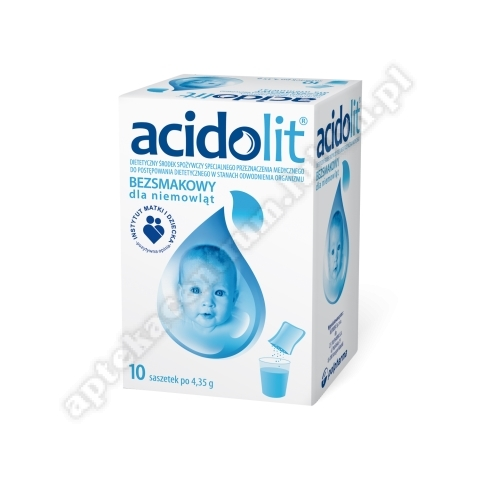 Acidolit bezsmakowy dla niemowląt 10 saszetek d.w. 31.07.2020