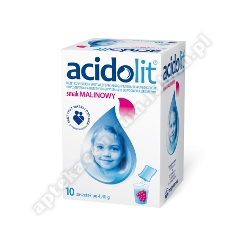Acidolit smak malinowy 10 saszetek
