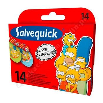 Plast.SALVEQUICK Simpson dla dzieci 14szt.