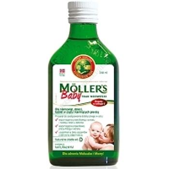 MOLLERS Baby Tran Norweski aromat naturalny 250ml+szczoteczka do zębów