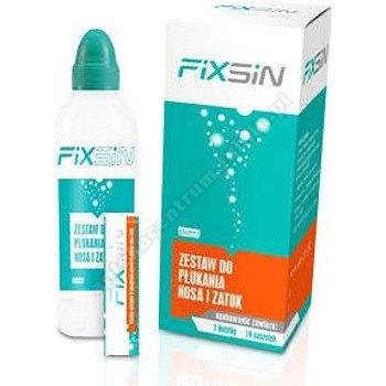 FIXSIN Zestaw do płukania nosa i zatok butelka + 15 saszetek