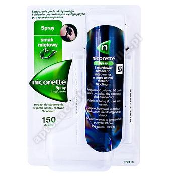 Nicorette Spray aerozol do stosowania w jamie ustnej 1mg/dawkę