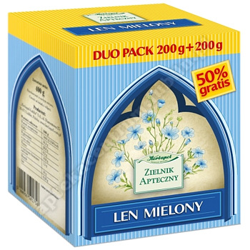 Len mielony DUO PACK (200+200) 400 g
