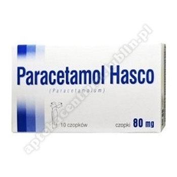 Paracetamol Hasco czop.doodbyt. 0,08g 10cz