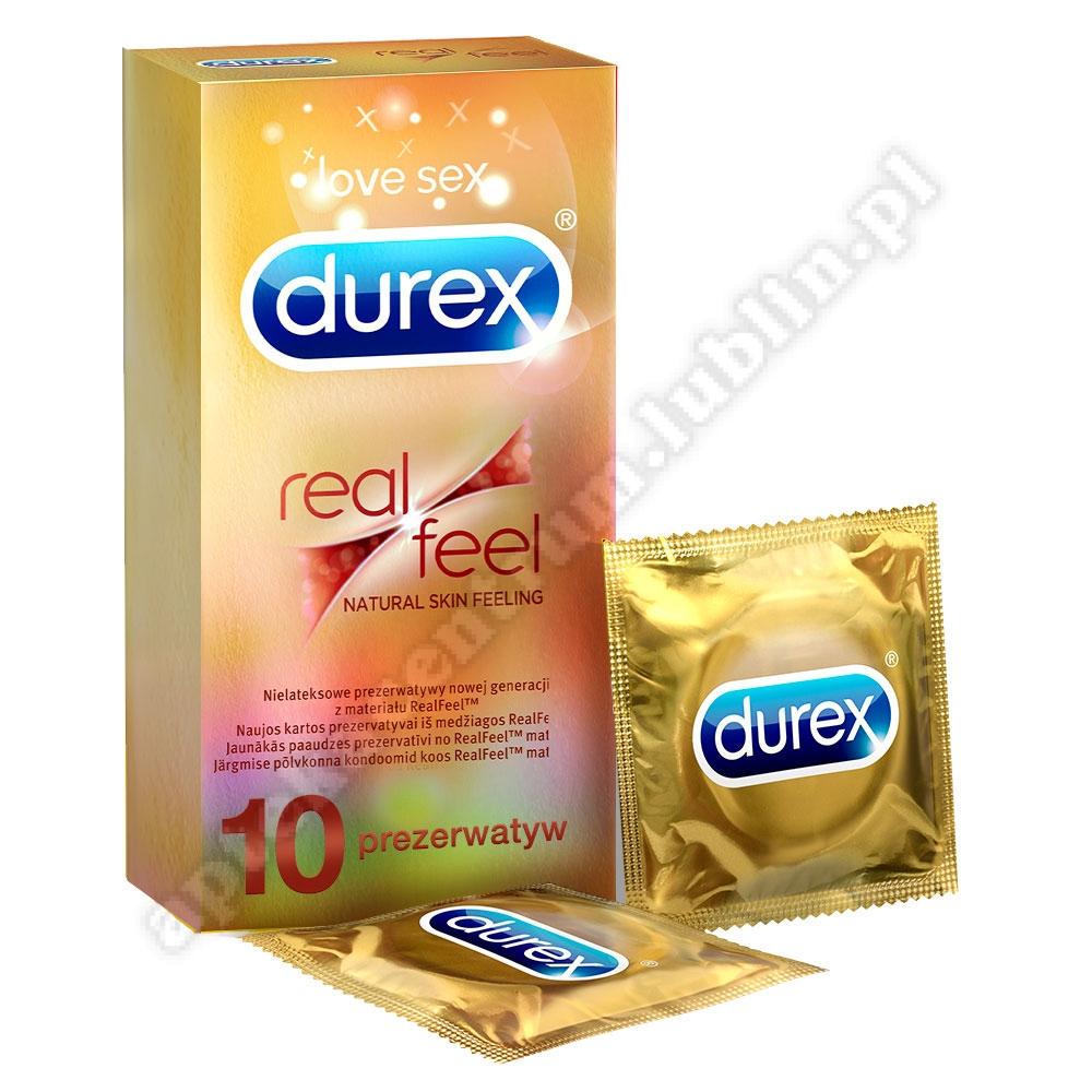 Durex prezerwatywy bez lateksu Real Feel 10 szt bezlateksowe